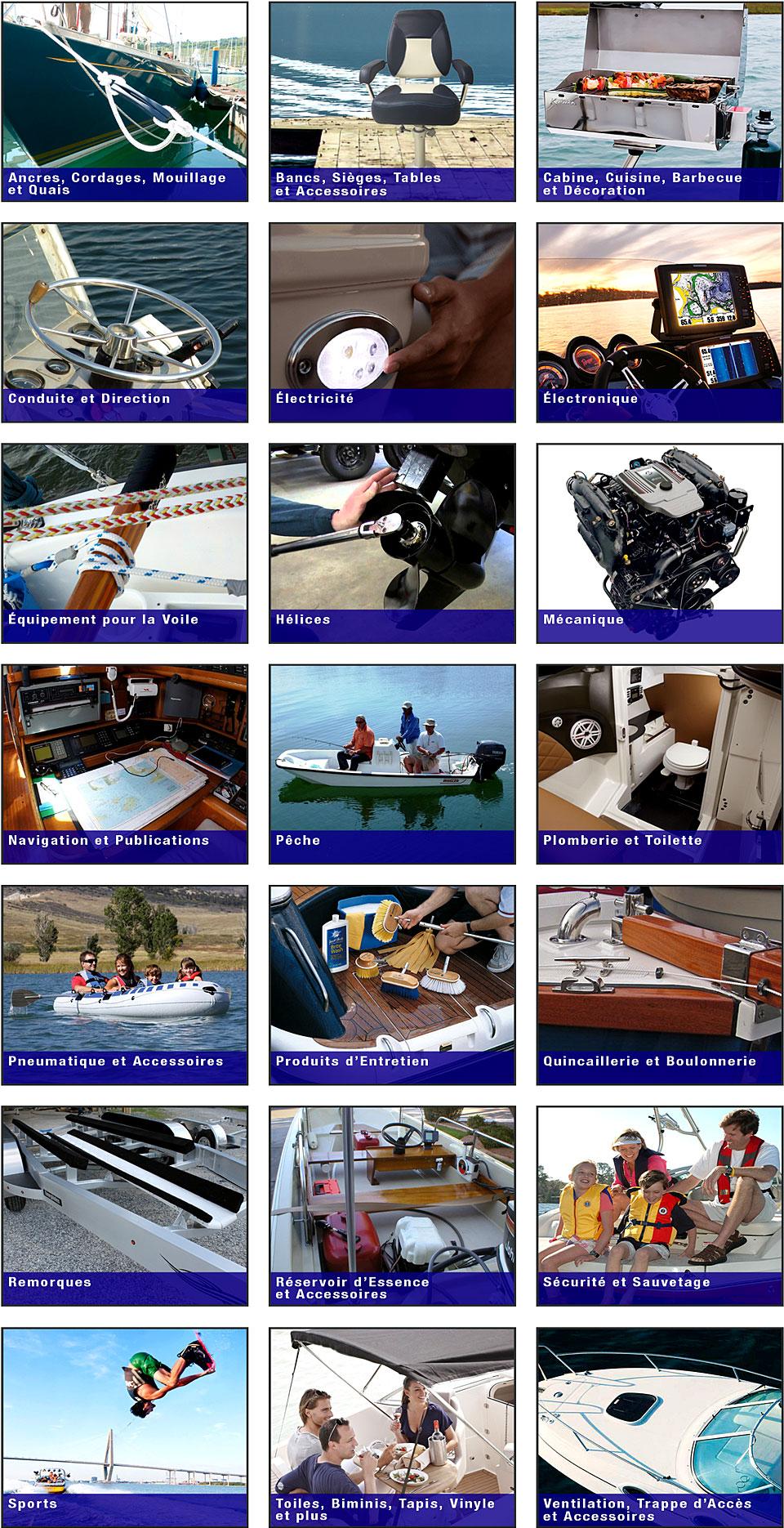 Accessoires et pièces de voilier et bateau